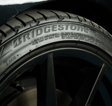 Worn out Bridgestone Tyre