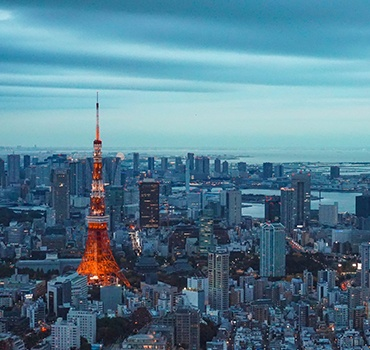 Evening Tokyo city with Tokyo Tower