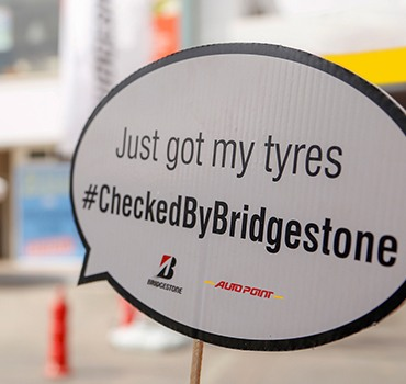 Tyres checked by bridgestone campaign